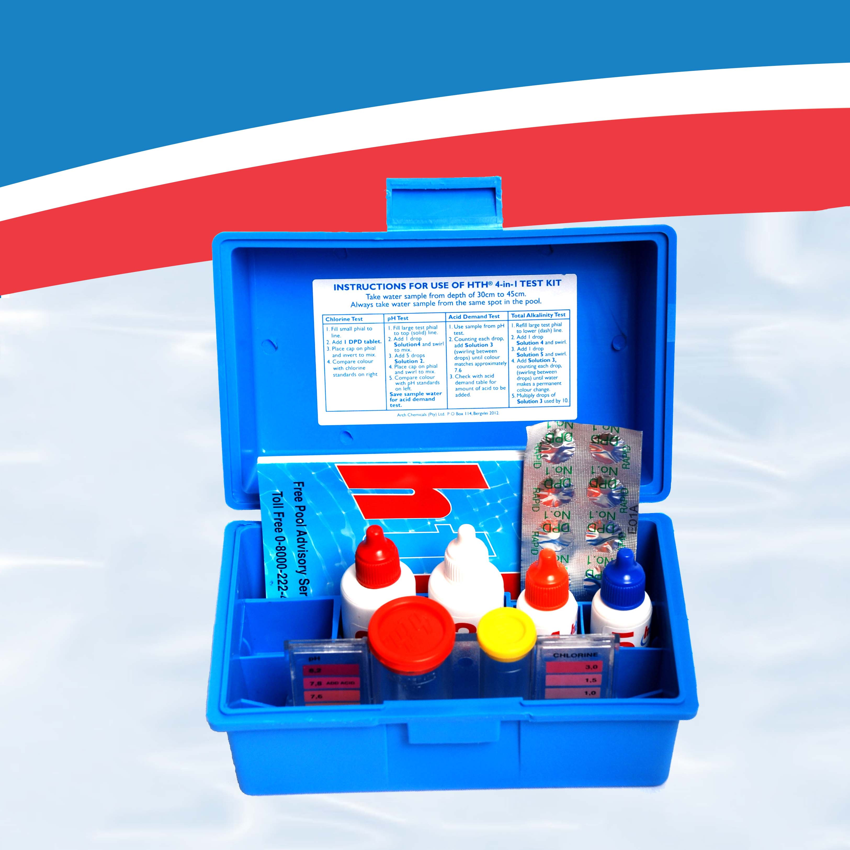 Manual water test kit 4 in 1 hyper pool group - Hth swimming pool test kit instructions ...